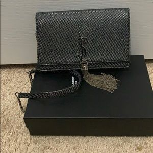Yves Saint Laurent Bags Croc Embossed Small Ysl Kate